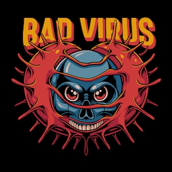悪いウイルスイラスト