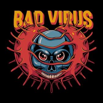 Bad virus illustration