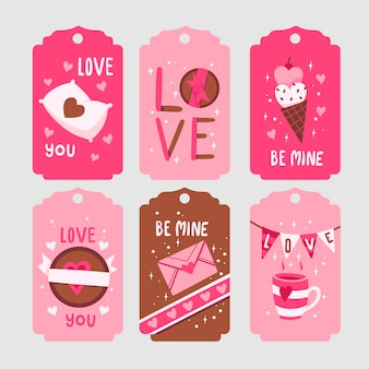 Badge collection for valentine day