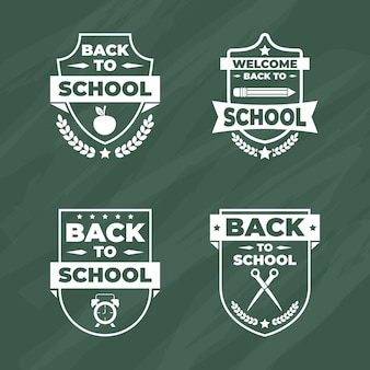 Badge collection with back to school