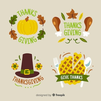 Badge collection with thanksgiving theme