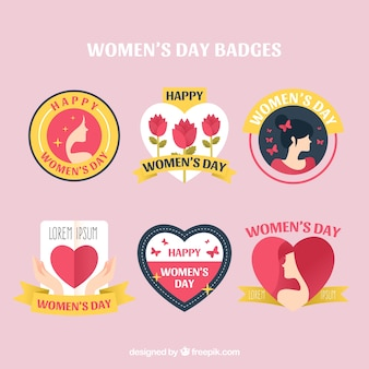 Badge collection for womans day