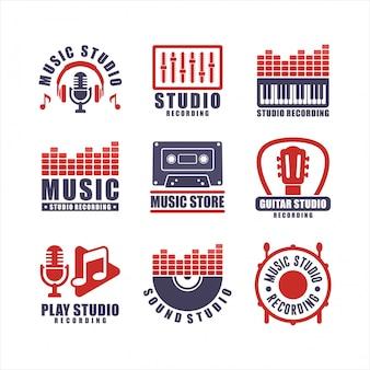 Музыкальная студия записи badge collections