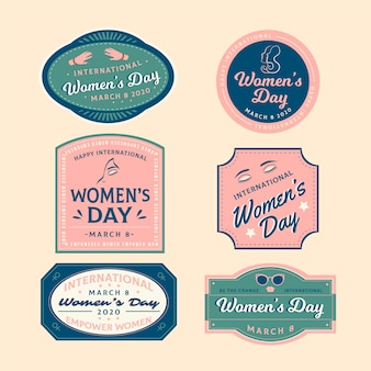 Badge concept for women day