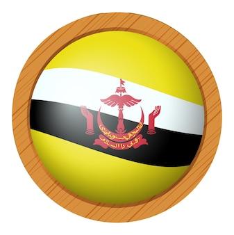 브루나이의 국기를 위한 배지 디자인