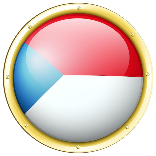 チェコ共和国の旗のバッジのデザイン