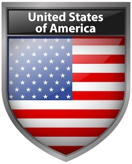 Дизайн значка для флага соединенных штатов америки