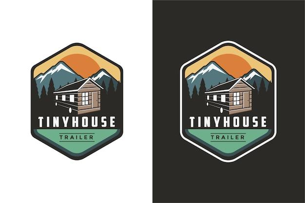 Значок эмблемы патч крошечный домик иллюстрация логотип