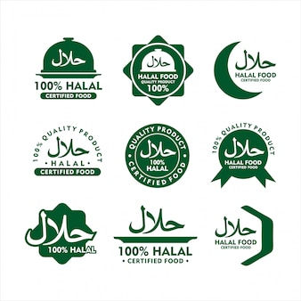 Badge halal food   design