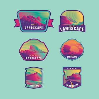 Badge landscape