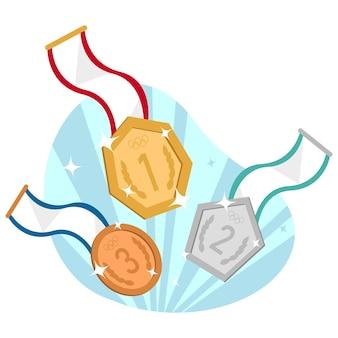 Badge medal flat illustration