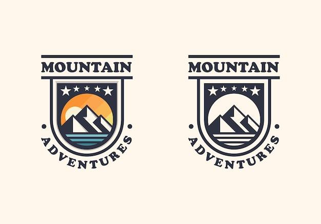 Badge mountain two version logo