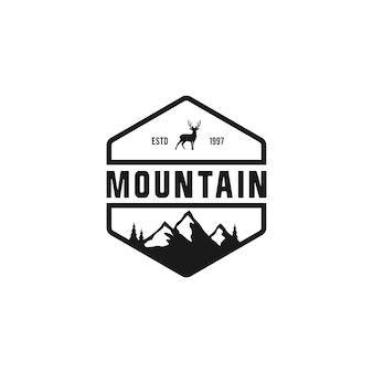 Badge mountain vintage logo design inspiration