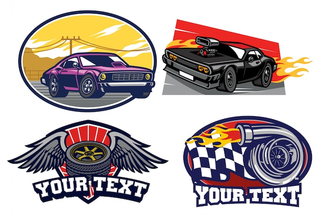 Badge muscle car set