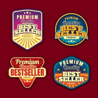 Badge pack of best seller product