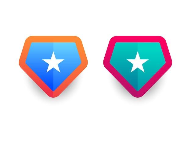 Значок формы вектор военный щит силуэты логотип безопасности