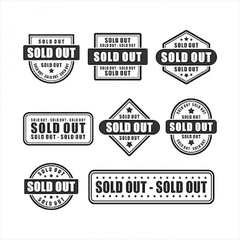 Badge soldout    design collection
