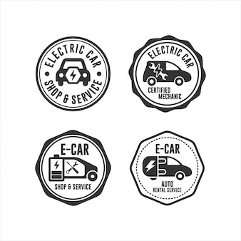 Badge stamps electrik car collection
