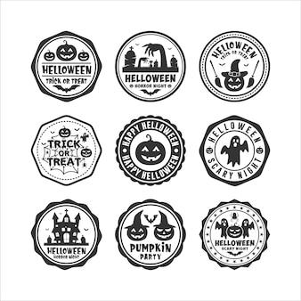 Badge stamps halloween