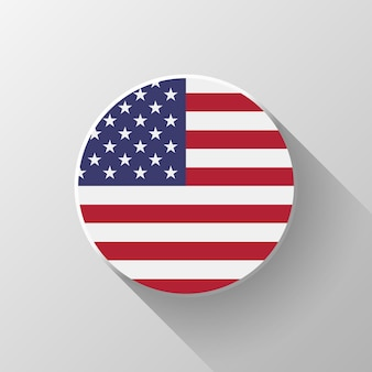 Badge with usa official national flag