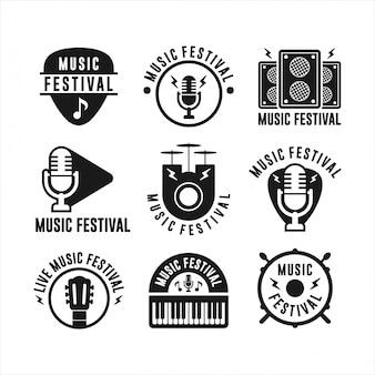 Музыкальный фестиваль badge коллекции