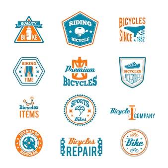 Badges about bicycle repair