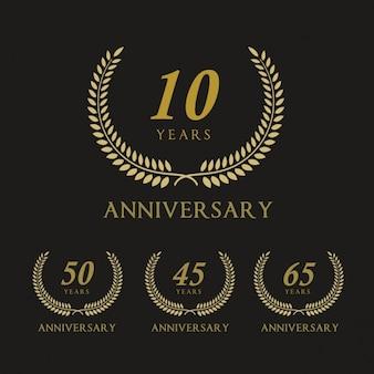Badges for anniversaries