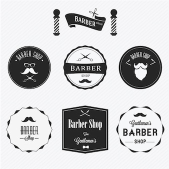 Badges for barber shops