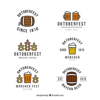 Badges of beer oktoberfest festival