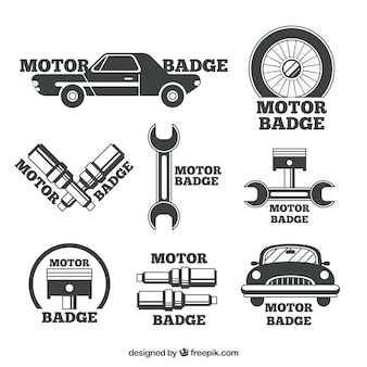 Badges for car repair shops