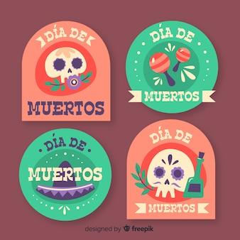 Badges for dia de muertos collection
