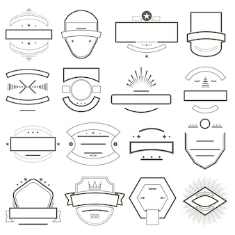Badges and emblems template for logo