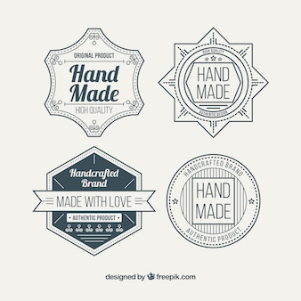 Badges for craftwork