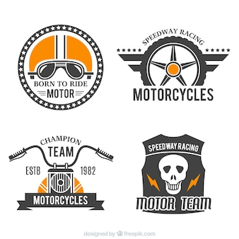 Badges for motorcycles