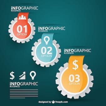 Badges infographic design