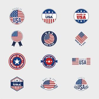 Badges of united states Premium Vector