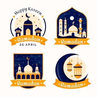Badges with ramadan concept