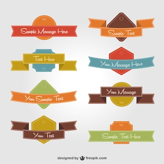Badges with ribbons collection