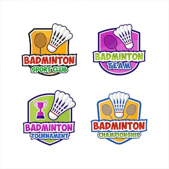 Badminton club tournament design collection