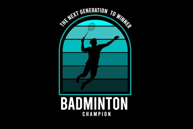Badminton color green and white