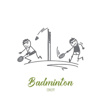 Badminton concept illustration
