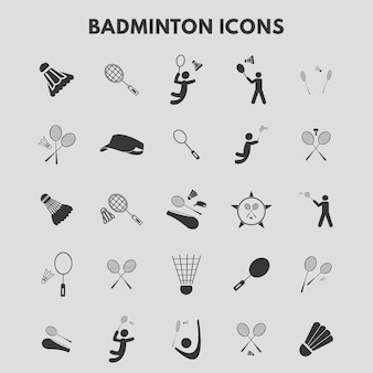 Badminton icons