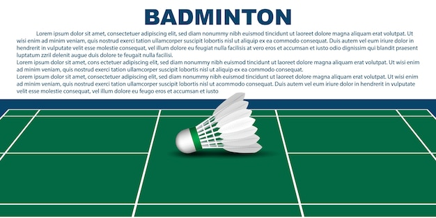 Badminton layout template for brochure or pages