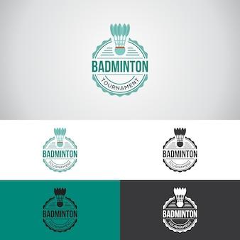 Шаблон дизайна логотипа badminton