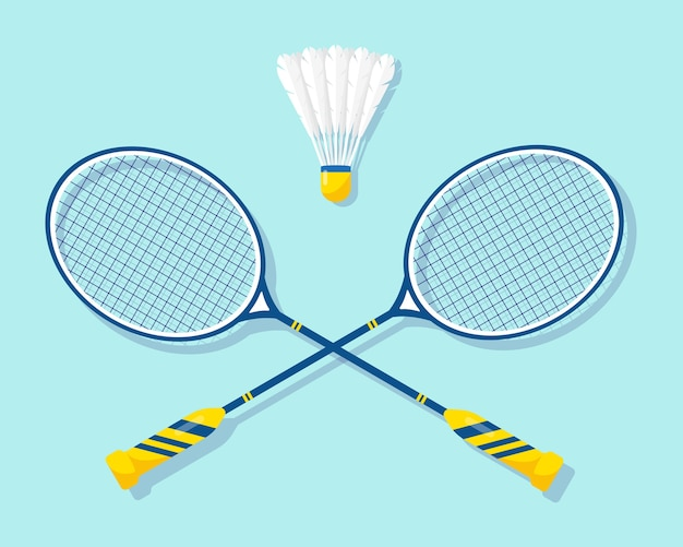 Badminton rackets and shuttlecock  of equipments for badminton game sport