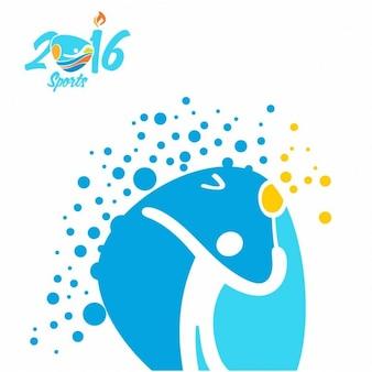 Badminton rio olympics icon