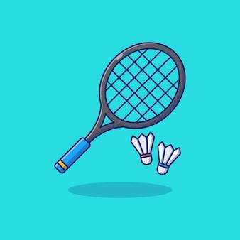 Badminton and shuttlecock vector illustration design