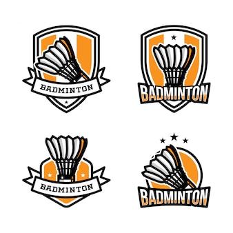 Badminton sport logo
