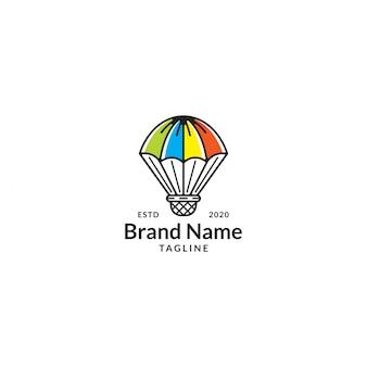 Badminton umbrella logo concept
