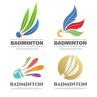 Уникальный и творческий логотип badminton